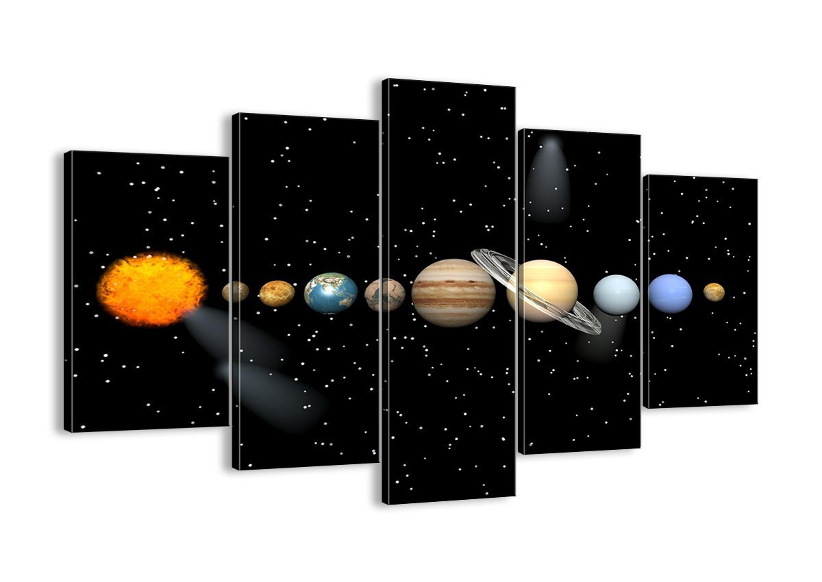 Solar System on Canvas Image