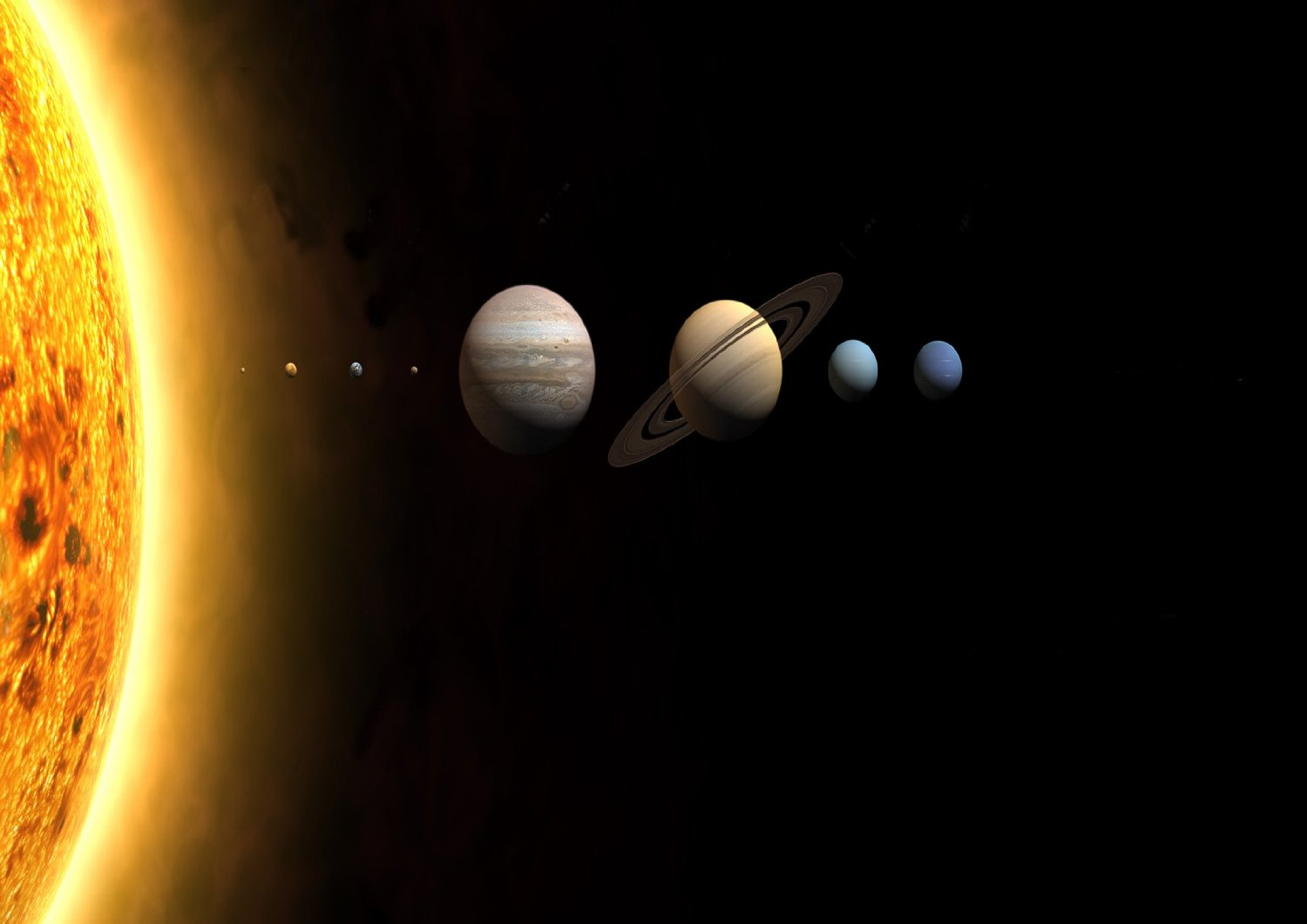 The Planets and Sun Image