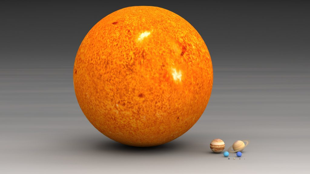 How Big is Sun compared to Earth? - I Love The Universe