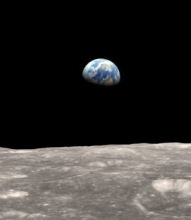 Earth Viewed from The Moon