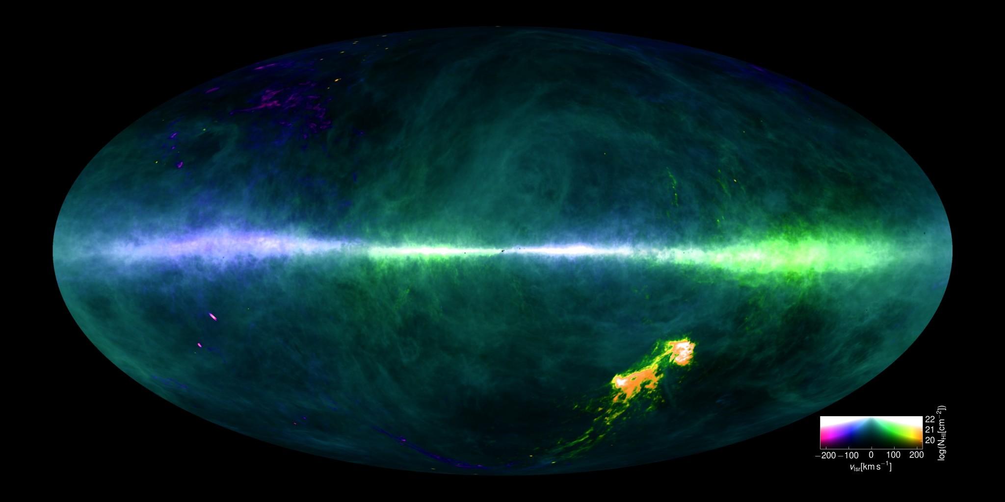 milky way galaxy map