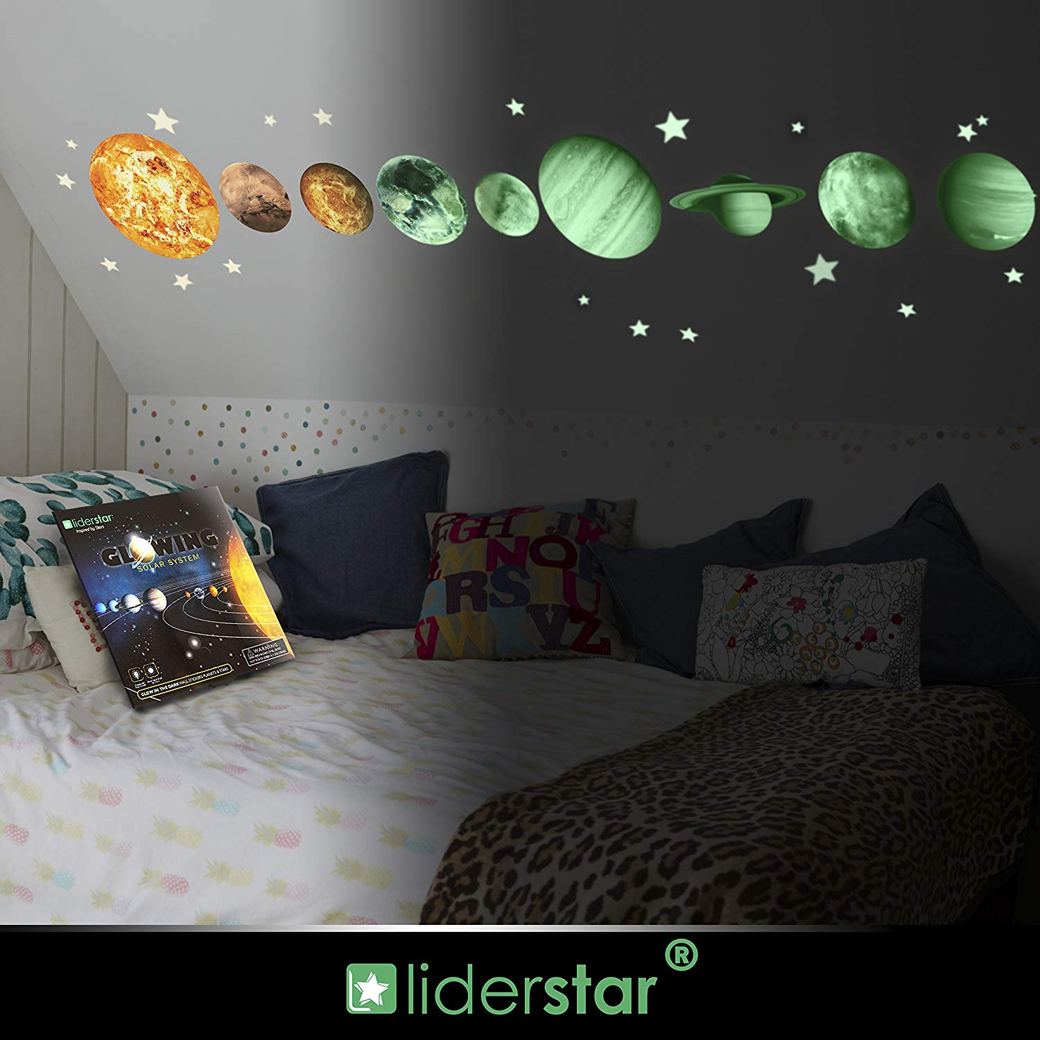 Glow in the dark Stars and Planets Glowing wall stickers Image