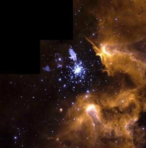 Nebula NGC 3603 Shows Life Cycle of Stars