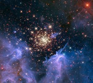 Starburst Cluster Shows Celestial Firework