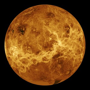 Composite radar map of Venus from Magellan